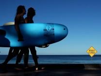 Der Manly Beach in Sydney wurde wegen der Corona-Pandemie geschlossen.