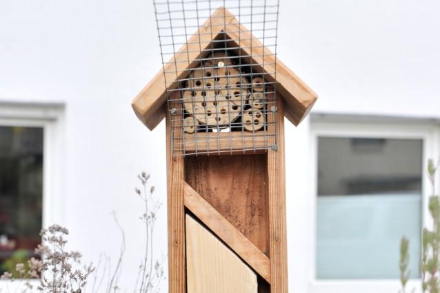 Gauting: Lasse Döllefeld hat auch ein Projekt in der Coronakrise: Bau eines Insektenhotels