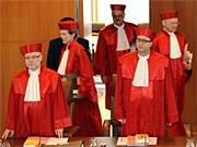 Bundesverfassungsrichter beraten über EU-Reformvertrag; AP