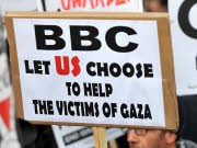 BBC Gaza Massenproteste