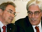 Ehemalige Vorstandvorsitzende der BayernLB Werner Schmidt und Rudolf Hanisch; dpa