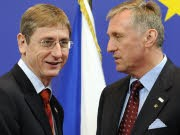 EU Sondergipfel Brüssel Mirek Topolanek Ferenc Gyurcsany AFP