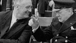 USA Präsident Franklin Delano Roosevelt Winston Churchill 1941 ap