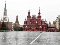 Russland Corona Roter Platz