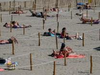 Coronavirus: Urlaub an einem Strand in Frankreich