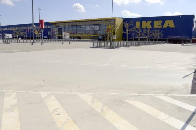 Ikea-Parkplatz in Brunnthal, 2020