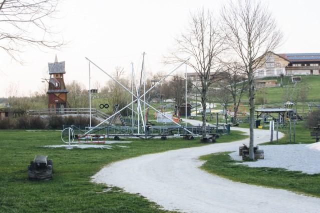 Bergtierpark Blindham während der Corona-Krise verwaist, 2020