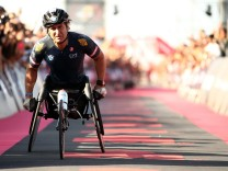 FILE PHOTO - Paralympian And Former Race Driver Alex Zanardi Reported Injured In A Road Accident - IRONMAN Italy