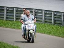 August 10 2019 Spielberg Austria Dietrich Mateschitz owner of Red Bull and his girlfriend Mari