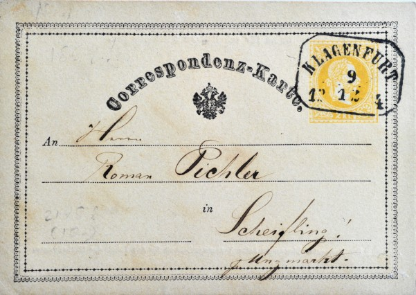 Tutzing: Post- und Ansichtskarten aus der Sammlung von Gernot Abendt 1. Postkarte der Welt stammt aus Österreich von 1869
