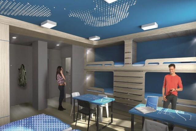 Die klassischen Stockbetten sollen laut Betreiber auch im modernen Neubau nicht fehlen.