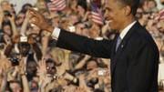 Gefeierter Star: Obama bei seinem Besuch in Berlin im Juli 2008