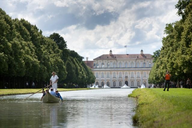 Gondelfahrt Schloss Schleißheim, Einstieg: Schloss Lustheim
