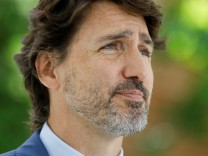 Canada's Prime Minister Justin Trudeau attends a news conference in Ottawa