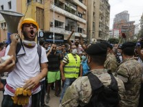 Libanon Beirut Proteste Explosion
