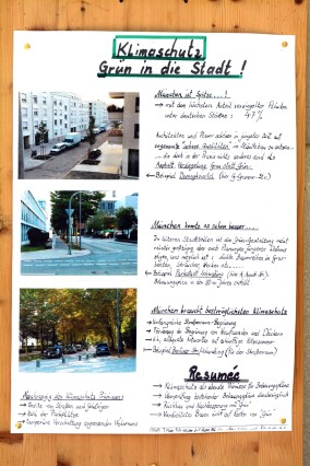 """Domagkpark Bürgerinitiative """"Mehr Grün... im Domagkviertel"""" Aktion Messen der Temperatur im Viertel"""