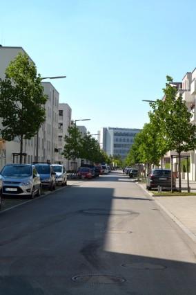 """Domagkpark Bürgerinitiative """"Mehr Grün... im Domagkviertel"""" Aktion Messen der Temperatur im Viertel,"""