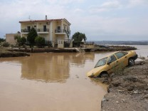 August 9, 2020, Village Mpourtzi, Evia, Greece: Five people have been found dead and dozens have been trapped in their