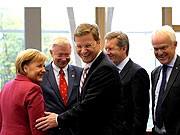 Angela Merkel Guido Westerwelle Koalitionsverhandlungen