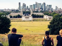 London panorama seen from Greenwich park viewpoint. United Kingdom, England, London ,editorial use only PUBLICATIONxINxG