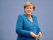 Bundeskanzlerin Angela Merkel bei der Sommer-Pressekonferenz