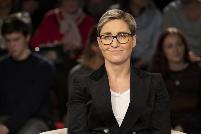 Susanne Henning-Wellsow (Politikerin) 02/20 her Susanne Henning-Wellsow am 12. Februar 2020 in Markus Lanz , ZDF TV Fern