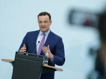 Health Minister Spahn Speaks Following Meeting Of EU Health Officials