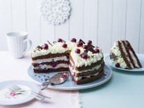 Plate with ready-to-eat Black Forest cake PPXF00315