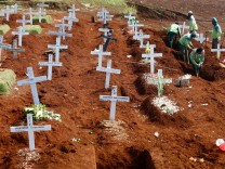 FILE PHOTO: Cemetery in Indonesia's capital running out of space as coronavirus cases surge