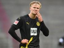 BVB-Stürmer Erling Haaland beim Bundesliga-Spiel gegen den FC Augsburg