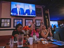 Women for Trump gather for a debate watch party in California