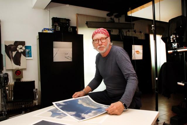 Andreas Huber im Fotostudio; Ateliertage Berg/Icking