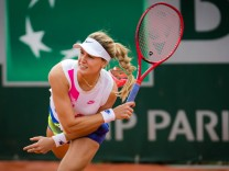 September 30, 2020, Paris, FRANCE: Eugenie Bouchard of Canada in action during the second round at the 2020 Roland Garr