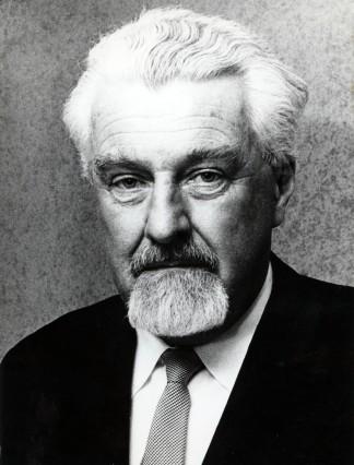 Oct 16 1973 Zurich Switzerland Official portrait of behaviorist KONRAD LORENZ after winning