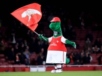 Gunnersaurus File Photo File photo dated 05-12-2019 of Gunnersaurus the Arsenal mascot. FILE PHOTO EDITORIAL USE ONLY No; Arsenal