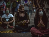 September 25, 2020, Barcelona, Catalonia, Spain: Environmental activists demonstrate against climate change. Fridays Fo
