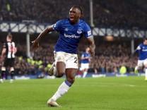 Everton v Newcastle United - Premier League - Goodison Park Everton s Moise Kean celebrates scoring his sides first goa