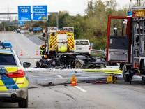 Unfall auf der A66 bei Hofheim im Oktober 2020