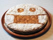Milan, Italy Artisan cake created on the Coronavisur theme with masks In the photo: cake decoration Coronavirus PUBLICAT