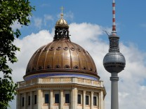 A general view shows the Humboldtforum in Berlin