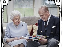 Queen & Duke Of Edinburgh 73rd Wedding Anniversary Official Portrait