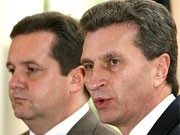 Mappus, Oettinger, Foto: ddp
