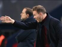 RB Leipzig: Trainer Julian Nagelsmann beim Spiel gegen Paris Saint-Germain