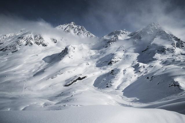 Austria, Tyrol, Ischgl, winter landscape in the mountains PUBLICATIONxINxGERxSUIxAUTxHUNxONLY ABF000672