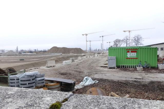 Ehemalige Bayernkaserne an der Heidemannstraße - Bauarbeiten