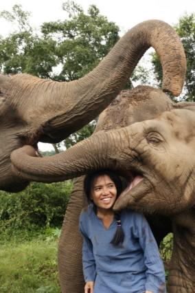 Lek Saengduean Chailert kümmert sich im Norden Thailand im Elephant Nature Park um kranke und traumatisierte Elefanten.
