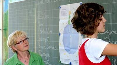 Schule Gespräch mit Lehrern