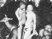 Das Paradies in einer Darstellung von Lukas Cranach