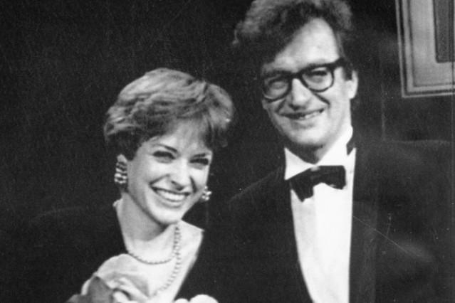 Werner Herzog, Nina Grosse und Wim Wenders, 1988