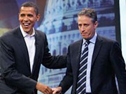 Obama, Stewart, Daily Show, AP